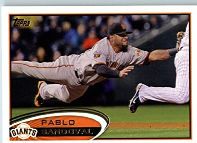 2012 Topps Baseball Card #185 Pablo Sandoval - San Francisco Giants - MLB Trading Card