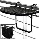 Balkontisch-Hngetisch-Polyrattan-Klapptisch-Balkon-Tisch-Rattan-Gartenmbel-schwarz-klappbar