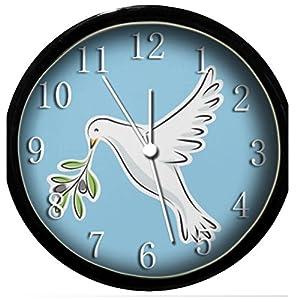 glow in the dark wall clock peace dove home