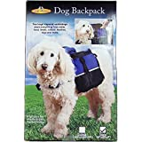 Dog Backpack (Saddlebags) Large Size 12 In. X 12 In. X 4 In. Blue And Black Color