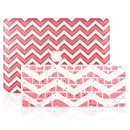 TopCase 2 in 1 - Chevron Series Ultra Slim Light Weight Hard Case Cover Plus Matching Color Chevron Zig-Zag Keyboard Cover Skin for Macbook Air 13\