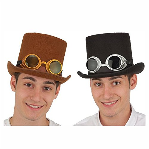 Deluxe-Steampunk-Hat-with-Glasses-1-Count-Assorted-Colors-Vary
