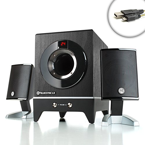 Gogroove Bluesync Lx Bluetooth Wireless 2.1 Home Theater Satellite Speaker System With Bass Enhanced Subwoofer & Remote Control For Lenovo Ideapad Y510P Gaming Laptop , Alienware 17 , Asus Rog G750Jz , Msi Ghost , Razer Blade - Bonus Micro-Usb!