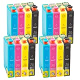 16 Printer ink cartridges for Epson XP102 XP202 XP205 XP302 XP305 XP402 XP405