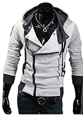 Fittyou Mens Color Block Slim Hooded Jacket Hoodies ZA-015