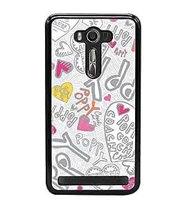 Fuson Premium 2D Back Case Cover Happy With Multi Background Degined For Asus Zenfone 2 Laser ZE550KL::Asus Zenfone 2 Laser ZE550KL (5.5 Inches)