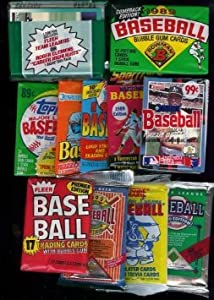 25 Original Unopened Packs of Vintage Baseball Cards (1980s-1990s) . Includes a Bonus... by Unknown