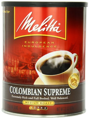 Melitta Coffee, Colombian Supreme Ground, Medium Roast, 22-Ounce