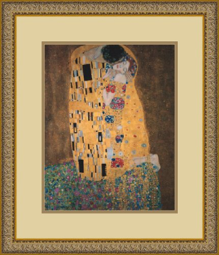 The Kiss (Le Baiser / Il Baccio), 1907 Framed Art Print by Gustav Klimt, Image size: 10.75