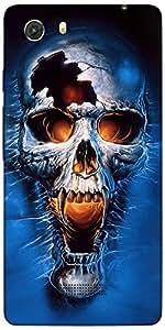 Snoogg Skull Fury Designer Protective Back Case Cover For Micromax Unite 3 Q372
