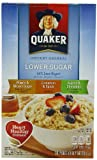 Quaker Instant Oatmeal Lower Sugar, Flavor Variety Pack, 10 Count Boxes (Pack of 4)