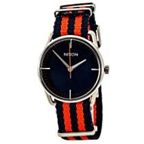 Nixon Mellor Watch Navy/Red Nylon, One Size