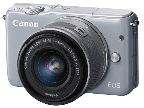 Canon ミラーレス一眼カメラ EOS M10 レンズキット(グレー) EF-M15-45mm F3.5-6.3 IS STM 付属 EOSM10GY-1545ISSTMLK