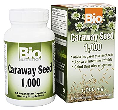 Bio Nutrition - Caraway Seed 1000 mg. - 60 Vegetarian Capsules