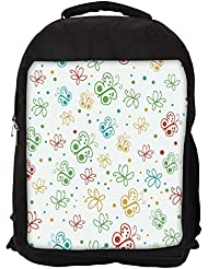 """Snoogg Abstract Multicolor Butterflies Casual Laptop Backpak Fits All 15 - 15.6"""" Inch Laptops"""