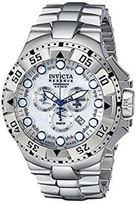 Invicta Men's 13084 Excursion Analog Display Swiss Quartz Silver Watch