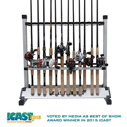 KastKing Rack 'em Up 24 Fishing Rods Holder Portable Aluminum Rack