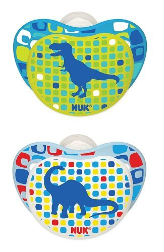 4 Nuk Orthodontic Pacifiers 0-6 Months Boy Dinosaur Bpa Free Natural Shape front-906827
