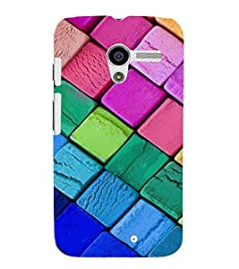 EPICCASE Colorful Chalk Pattern Mobile Back Case Cover For Moto X (Designer Case)