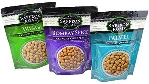 Saffron Road Crunchy Chickpeas Variety Pack of 3