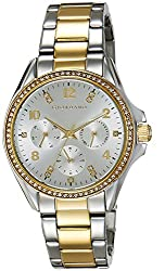 Giordano Analog Silver Dial Womens Watch - 2720-44