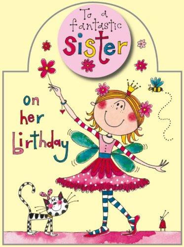 Rachel Ellen Sister Glitter Fairy Birthday Card