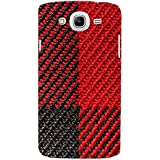 Red And Black Pattern Hard Polycarbonate Designer Back Case Cover For Samsung Galaxy Mega 5.8 I9150 :: Samsung...