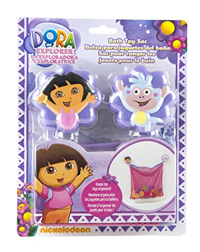 Nickelodeon Dora the Explorer Bath Toy Organizer - Multipurpose - Easy Storage - Pink and Purple