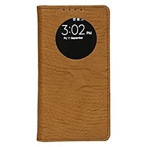 Dsas Artificial Leather Flip cover with screen Display Cut Outs designed for Motorola Moto E