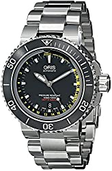 Oris Men's 73376754154 Aquis Analog Display Swiss Automatic Silver Watch