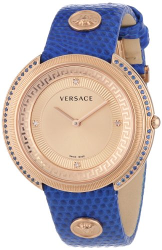 Versace-Womens-VA7080013-Thea-Diamond-and-Sapphire-Accented-Gold-Ion-Plated-Watch-with-Leather-Band