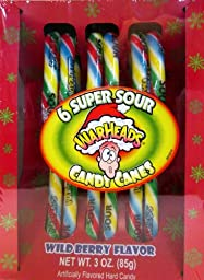 WarHeads Super Sour Candy Canes, 3 Oz