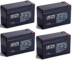 APC SMART-UPS DLA1500RM2U Replacement UPS Batteries - Set of 4