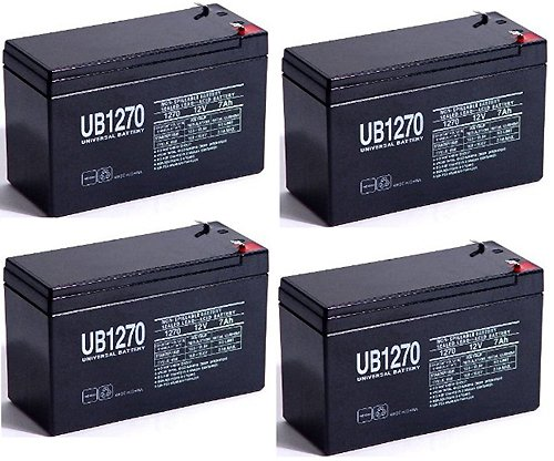 Sla Battery,12V,7Ah,Razor Scooter E300S Upg Ub1270 - 4 Pack