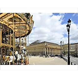 Photographic Print of Merry go round on Allees de Tourny looking towards the National Opera House