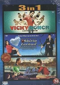 Vicky Donor / Shirin Farhad Ki Toh Nikal Padi / Teri Meri Kahaani(3 in 1 - 100% Orginal DVD Without Subtittle)