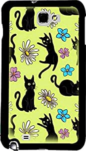 PrintVisa 2D-SGN2-D7727 Cartoon Cats Case Cover for Samsung Galaxy Note 2