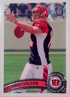 2011 Topps Football Card # 70 Andy Dalton RC - Cincinnati Bengals (RC - Rookie Card) NFL Trading Card in a Protective Case!