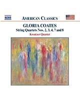 Gloria Coates : Quatuors à cordes n° 2, n° 3, n° 4, n° 7 et n° 8