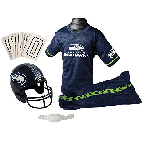 Franklin Sports NFL Seattle Seahawks Youth Licensed Deluxe Uniform Set, Large