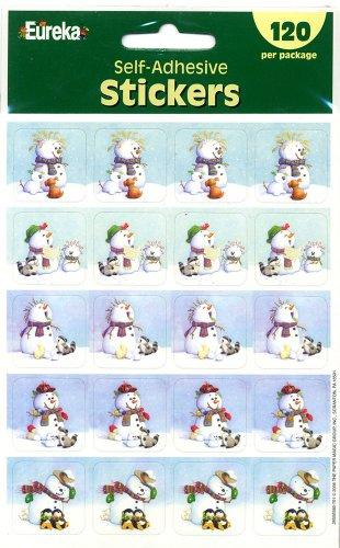 Eureka Snowmen Stickers