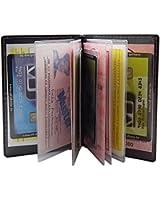 Elegantes Ausweis- und Kreditkartenetui mit Kontrastnaht 12 Fächer MJ-Design-Germany Made in EU in verschiedenen Farben und Designs