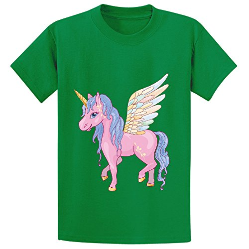 Likeu Cute Cartoon Unicorn Teen Graphic Crew Neck Tee Green (Pickle Pajama Pants compare prices)