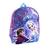 Disney Frozen 16 inch Backpack with Role Play Gloves - Sisters Forever by Global Design Concepts