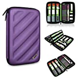 BUBM Portable EVA Hard Drive Case Travel Organizer Electronics Accessories /Cables & Accessories/ Hard Drive Shockproof Waterproof Digital Products to Receive a Package (Purple Large)