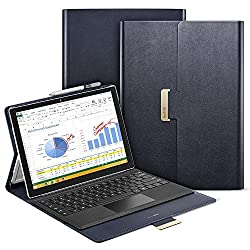 Surface Pro 4 Case, ESR Intelligent Series Folio Stand Case [Buckler for Secure Closure][Compatible with Surface Pro 4 Type ][Built-in Stand with Multiple viewing Angles]for Surface Pro 4_Navy Blue