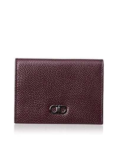 Salvatore Ferragamo Men's Textured Leather Cardholder, Red