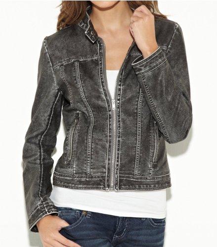 G by GUESS Women's Koa Faux-Leather Jacket, JET