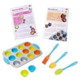 Casdon Little Cook Sup Rchef 12 Mini Cupcake Set With Utensils, Multicolored