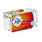 Puffs Basic Facial Tissues; 1 Family Box; 180 Tissues Per Box (Pack of 24)